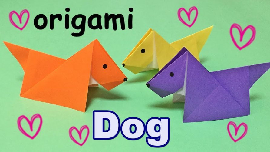 Origami Easy For Kids But Cool How To Make A Paper Dog Origami