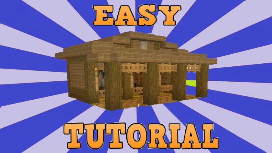 Minecraft Easy Small Horse Stables Tutorial Cool Animal Video