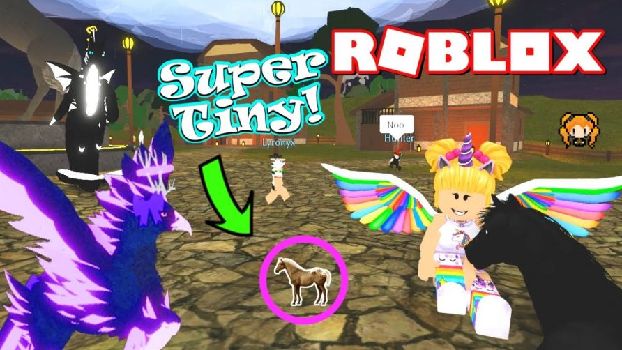 Roblox Horse World Being The Smallest Things In Roblox Horse World Tiny Spider Pony New Horse Falabella Foal Cool Animal Video