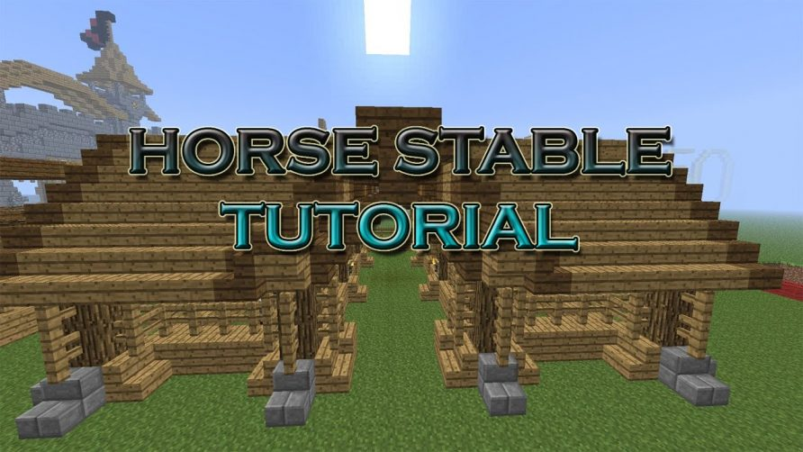 Minecraft How To Make A Cool Horse Stable Tutorial Cool